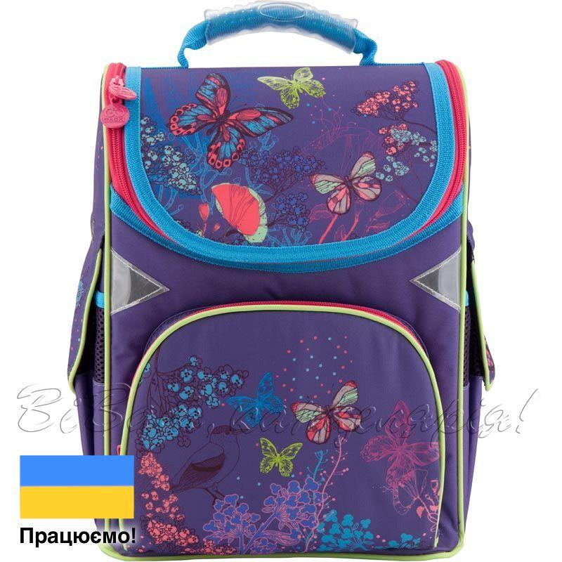 6b4eeffb57ed Рюкзак школьный каркасный GoPack 5001S-22 фиолетовый, принт - купить ...